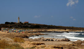 Pafos lighthouse Stock Images