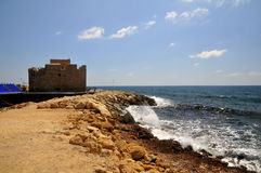 Pafos-old fortress Royalty Free Stock Photo