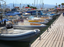 Pafos port. Boats in the port of Pafos, Cyprus Stock Images