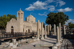 Pafos Ruins ans Old Orthodox Church Royalty Free Stock Images