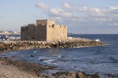Pafos slott arkivbild