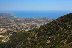 Pafos. Top view on the Pafos, Cyprus Royalty Free Stock Photography