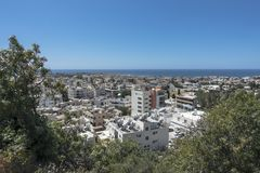 Pafos , view from the top. Top view on the Pafos, Cyprus Island , Europe Stock Image