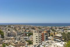 Pafos , view from the top. Top view on the Pafos, Cyprus Island , Europe Royalty Free Stock Image