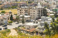 Pafos , view from the top. Top view on the Pafos, Cyprus Island , Europe Royalty Free Stock Photo