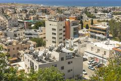 Pafos , view from the top. Top view on the Pafos, Cyprus Island , Europe Stock Photos