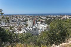Pafos , view from the top. Top view on the Pafos, Cyprus Island , Europe Stock Photography