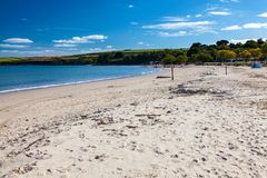 Pagórek Plażowy Dorset Anglia UK obrazy stock