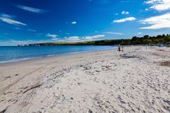 Pagórek Plażowy Dorset Anglia UK obrazy royalty free