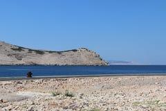 Pag海岛克罗地亚 库存图片