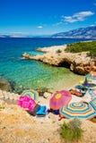 PAG, adriatisches Meer Stockbild
