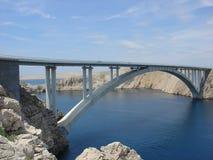 Pag bridge. Bridge to Island Pag, Croatia Royalty Free Stock Photography
