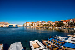 Pag city view in Croatia Stock Images