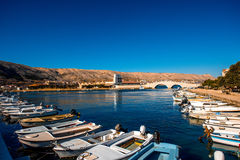 Pag city view in Croatia Royalty Free Stock Photography