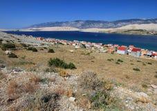 PAG-Insel, Kroatien, adriatisches Meer Stockbild