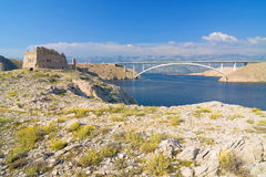 Pag, landscapes in Croatia Royalty Free Stock Photography