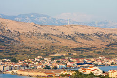 Pag, landscapes in Croatia Royalty Free Stock Image