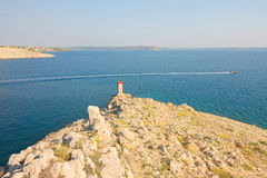 Pag, landscapes in Croatia Stock Images