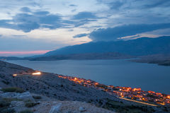 Pag town at night Royalty Free Stock Images