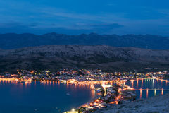 Pag town at night Stock Photography