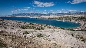 Pag village - Croatian sea Stock Images