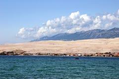 PAG, vista dallo SV Duh spiaggia fotografia stock libera da diritti