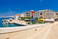 Pag waterfront view from bridge Stock Image