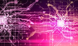 Paga cibernética de los circuitos del absract del Cyberpunk fantástico de alta tecnología del fondo Imagenes de archivo