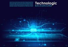 Paga cibernética de los circuitos del absract del Cyberpunk fantástico de alta tecnología del fondo Fotografía de archivo libre de regalías