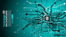Paga cibernética de los circuitos del absract del Cyberpunk fantástico de alta tecnología del fondo Fotos de archivo