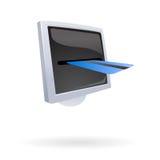 Paga en línea con de la tarjeta de crédito Imagenes de archivo