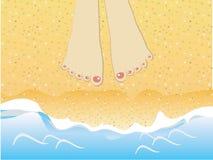 Paga na praia Ilustração do Vetor