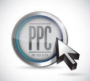 Paga per progettazione dell'illustrazione del bottone di clic Fotografia Stock Libera da Diritti