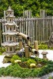 Pagada石头和竹子喷泉 库存照片