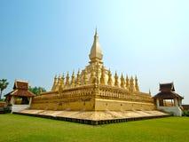 Pagada d'or chez Wat Pha-Que Luang dans Vientian, les Laotiens Photographie stock
