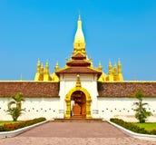Pagada d'or chez Wat Pha-Que Luang à Vientiane Image stock