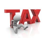Pagador de impuestos atado con el encadenamiento Fotografía de archivo libre de regalías