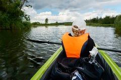 pagaia sul peene del fiume fotografia stock libera da diritti