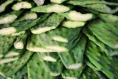 Pagaie cactus/di Nopales nel mercato Fotografie Stock