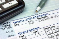 Pagamenti, accreditamenti e registrazioni Immagini Stock