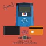 Pagamenti del cellulare di Nfc Fotografie Stock