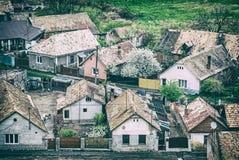 Pagamento aciganado em Filakovo, Eslováquia, filtro análogo foto de stock royalty free