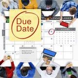 Pagamento Bill Important Notice Concept di termine della scadenza Fotografia Stock Libera da Diritti