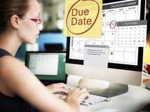 Pagamento Bill Important Notice Concept do fim do prazo da data aprazada Fotos de Stock Royalty Free