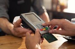 Pagamento con carta di credito fotografie stock