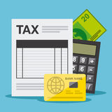 Pagamento de imposto Imagens de Stock