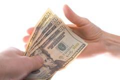 Pagamento dei dollari Fotografia Stock Libera da Diritti