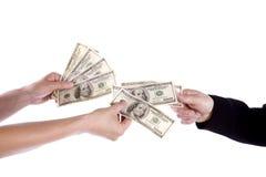 Pagamento dei soldi Immagini Stock