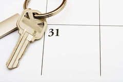 Pagamento della vostra ipoteca in tempo Fotografie Stock Libere da Diritti