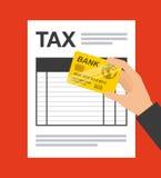 Pagamento di imposta Immagini Stock